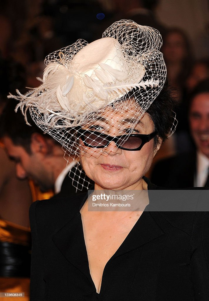Yoko Ono attends the 'Alexander McQueen: Savage Beauty' Costume Institute Gala at The Metropolitan Museum of Art on May 2, 2011 in New York City.