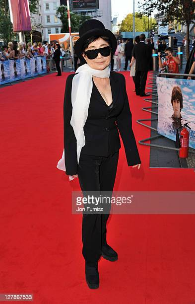 """Yoko Ono attends the """"George Harrison: Living In The Material World"""" UK premiere at BFI Southbank on October 2, 2011 in London, England."""
