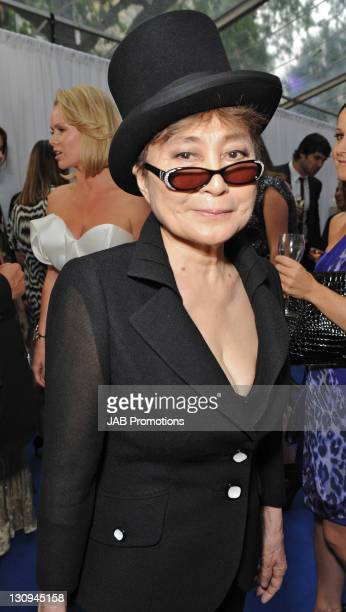 Yoko Ono attends the Glamour Women of the Year awards at Berkeley Square Gardens on June 8, 2010 in London, England.