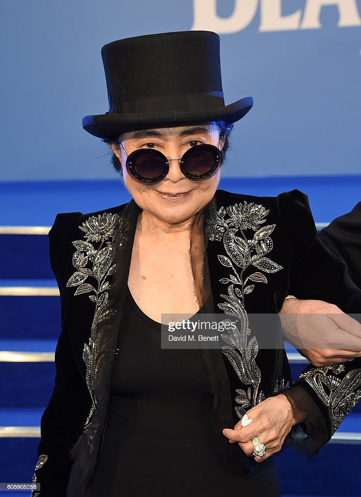 Yoko Ono attends the World Premiere of 'The Beatles: Eight Days A Week - The Touring Years' at Odeon Leicester Square on September 15, 2016 in London, England.