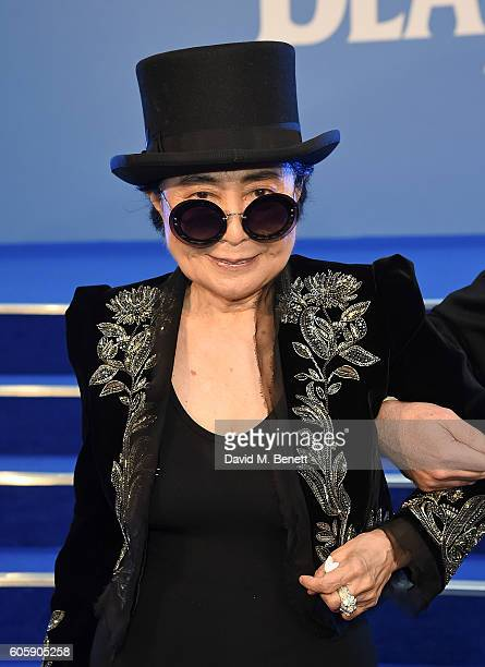 Yoko Ono attends the World Premiere of 'The Beatles Eight Days A Week The Touring Years' at Odeon Leicester Square on September 15 2016 in London...