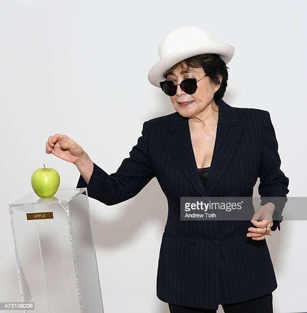 Yoko Ono attends the Yoko One One Woman Show 19601971 at Museum of Modern Art on May 12 2015 in New York City