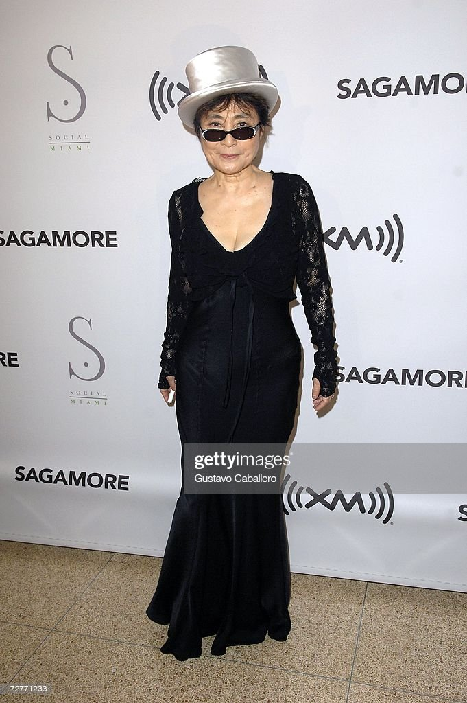 Yoko Ono attends the Yoko Ono party at the Sagamore Hotel during Art Basel Miami 2006 on December 7, 2006 in Miami Beach, Florida.