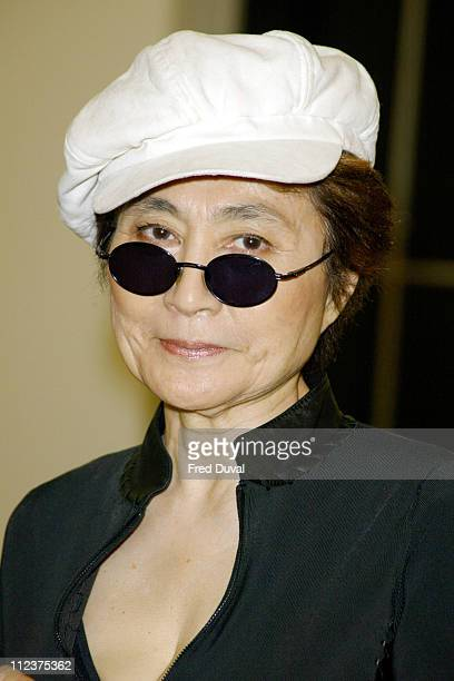 Yoko Ono during 2004 Beck's Futures Award at ICA in London, Great Britain.
