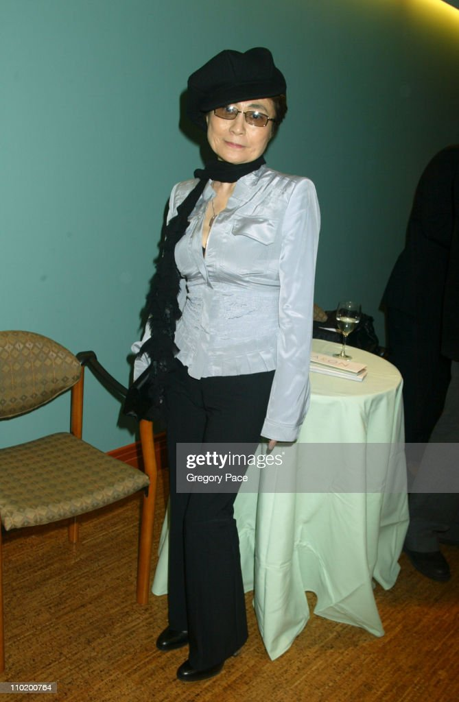 Yoko Ono during Caron Foundation's Grand Opening of NYC Recovery Center Specializing in the Treatment of Drug and Alcohol Abuse in Adolescents at Caron's New York Recovery Center in New York City, New York, United States.