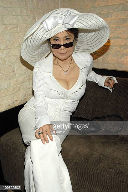 Yoko Ono during 'LOVE' Cirque du Soleil Celebrates the Musical Legacy of The Beatles Backstage at The Mirage Hotel and Casino in Las Vegas Nevada...
