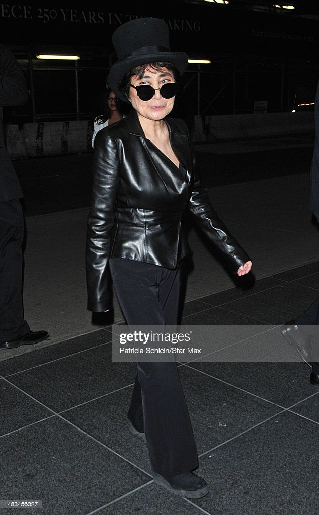 Yoko Ono is seen on April 8, 2014 in New York City.