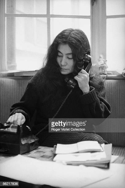 Yoko Ono Japanese artist the John Lennon's wife about 1965