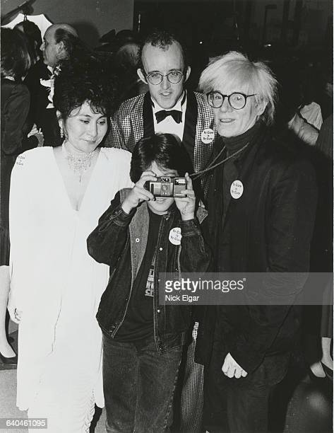 Yoko Ono Keith Haring Andy Warhol and Sean Lennon