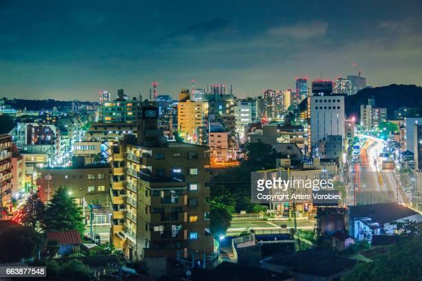 Yokohama at night, near Hodogaya