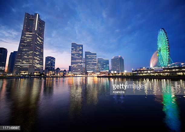 Yokohama at sunset
