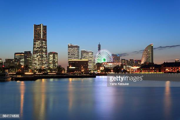 Yokohama at twilight