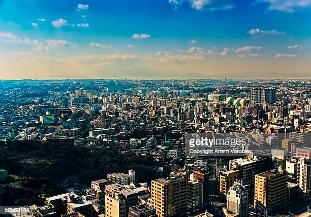 Yokohama cityscape in winter