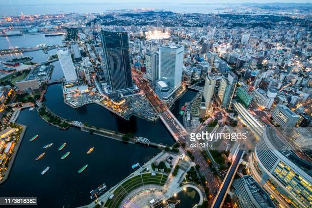 yokohama cityscape - yokohama stock pictures, royalty-free photos & images