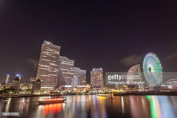 Yokohama cityscape Skyline At Dusk, Japan