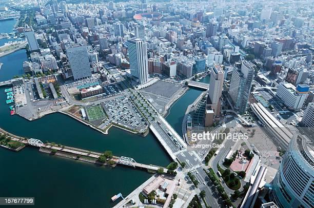 yokohama day view of minato mirai, kannai, motomachi - yokohama stock pictures, royalty-free photos & images