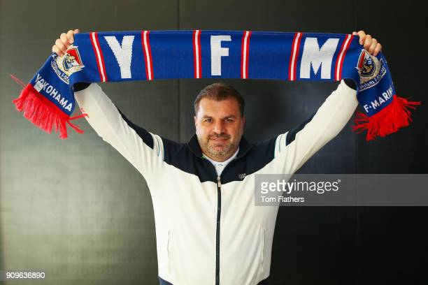 Yokohama FC Manager Jan Ange Postecoglou at Manchester City Football Academy on January 3 2018 in Manchester England