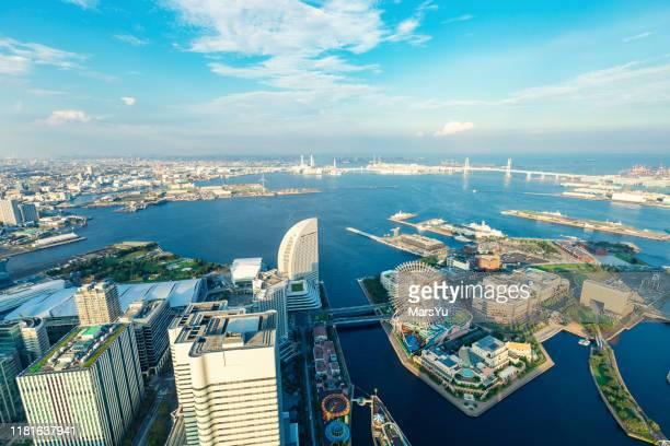 横浜港空中写真, 日本 - 湾 ストックフォトと画像