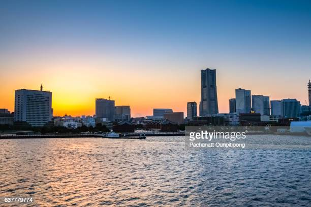 Yokohama Harbour at Sunset, Japan