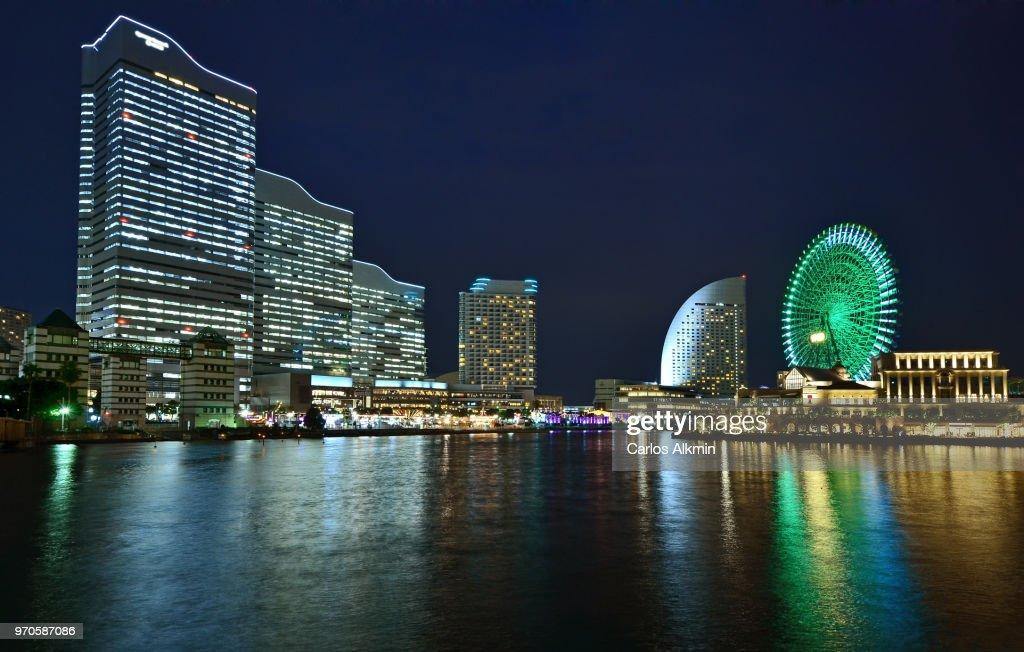 Yokohama Iconic Skyline of Minato Mirai : Stock Photo