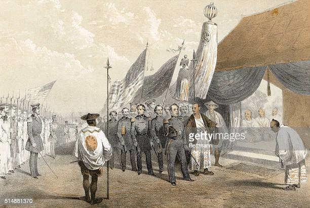 Commodore Perry meeting the Imperial Commisioners at Yokohama