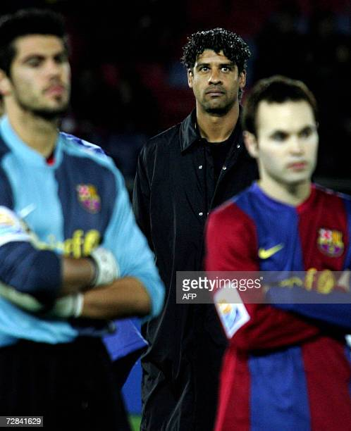 Spain's FC Barcelona head coach Frank Rijaard waits for the ceremony after their final match against SC Internacional for the FIFA Club World Cup...