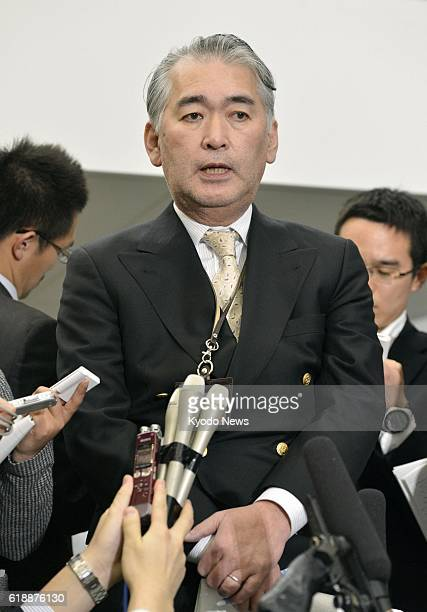 Yokohama Japan Takeshi Endo JGC Corp spokesman answers reporters' questions in Yokohama on Jan 17 about an unfolding hostage crisis in Algeria in...