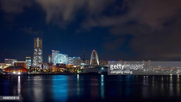 Yokohama Minato Mirai at night from Osanbashi Pier.