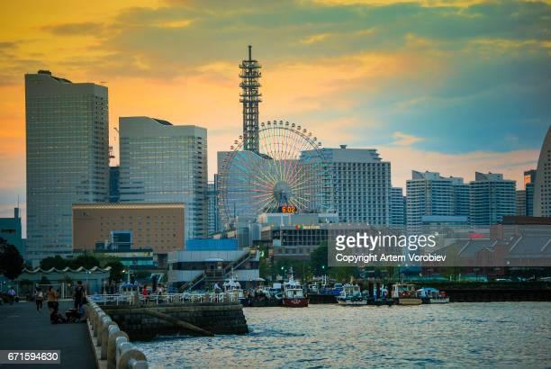 Yokohama Minato Mirai cityscape
