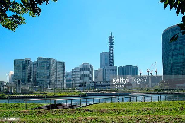 Yokohama Minato Mirai, view from Yokohama Portside