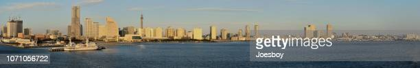 Yokohama-Panorama in der Morgendämmerung