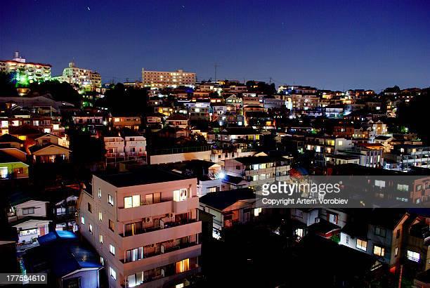 Yokohama rooftops at night