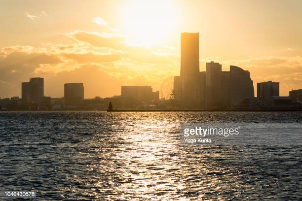 Yokohama Skyline at Sunset