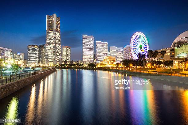 yokohama skyline in japan - yokohama stock pictures, royalty-free photos & images