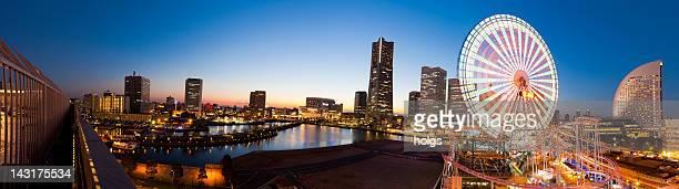 yokohama waterfront panorama, japan - national landmark stock pictures, royalty-free photos & images