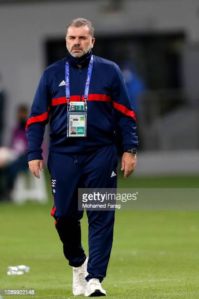 Yokohama's coach Ange Postecoglou looks on during the AFC Champions League Round of 16 match between Yokohama F.Marinos and Suwon Samsung Bluewings...