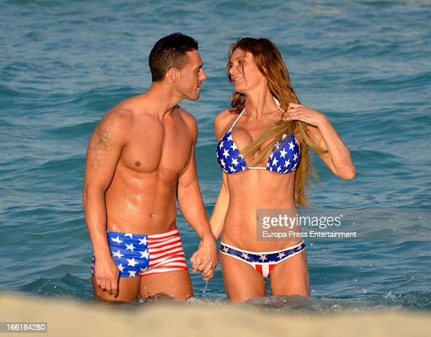 Yola Berrocal and Carlos Casana are seen on March 16 2013 in Miami United States