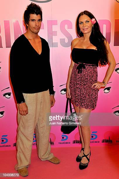Yola Berrocal and guest attend 'La Princesa del Pueblo' premiere at Palafox Cinema on September 21 2010 in Madrid Spain