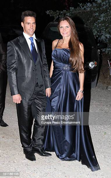 Yola Berrocal attends Tono Sanchis and Lorena Romero's wedding in Cercedilla on September 1 2012 in Madrid Spain