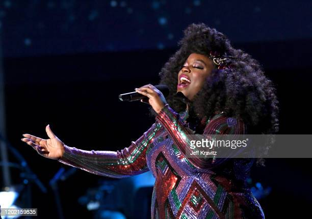 Yola performs onstage during the 62nd Annual GRAMMY Awards Premiere Ceremony at Microsoft Theater on January 26 2020 in Los Angeles California