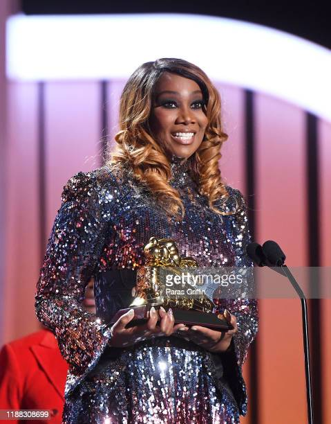 Yolanda Adams accepts the award for Lady of Soul onstage at the 2019 Soul Train Awards presented by BET at the Orleans Arena on November 17 2019 in...