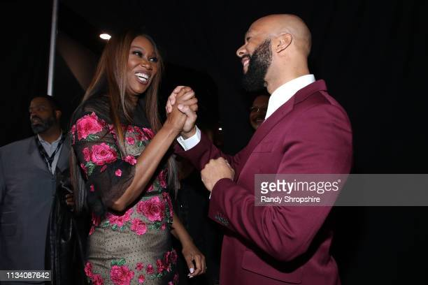 Yolanda Adams and Common attend AllStar Lineup Pays Tribute At Aretha A GRAMMYCelebration For The Queen Of Soul at The Shrine Auditorium on January...