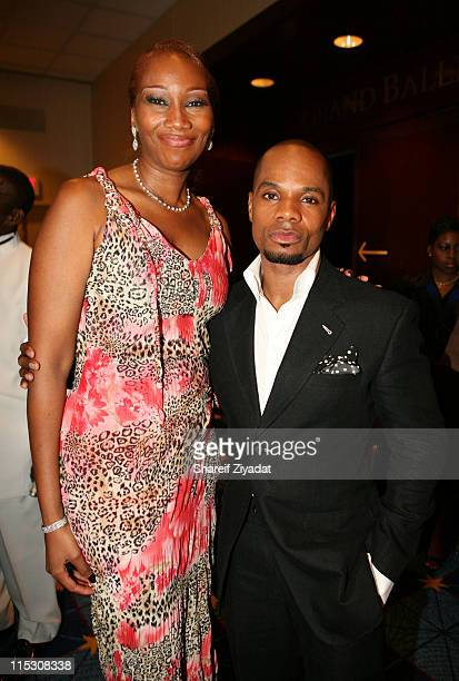 Yolanda Adams and Kirk Franklin during Radio One's 25th Anniversary Awards Dinner Gala at JW Marriot in Washington DC United States