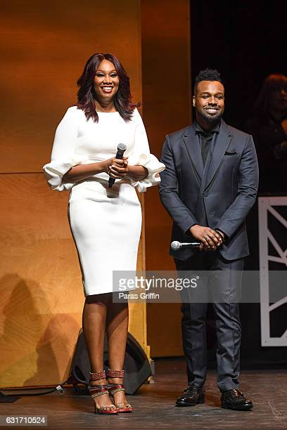 Yolanda Adams and VaShawn Mitchell host 2017 BMI Trailblazers of Gospel Music at Rialto Center for the Arts on January 14 2017 in Atlanta Georgia