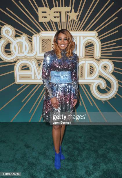 Yolanda Adams attends the 2019 Soul Train Awards presented by BET at the Orleans Arena on November 17 2019 in Las Vegas Nevada