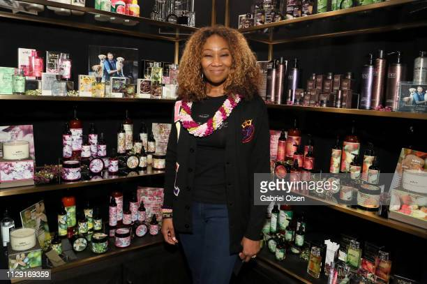 Yolanda Adams attends the talent lounge during the MusiCares Person of the Year honoring Dolly Parton at Los Angeles Convention Center on February 07...