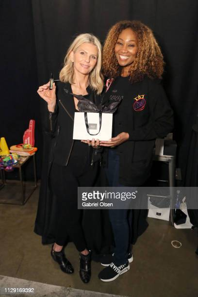 Yolanda Adams attends the talent lounge during the MusiCares Person of the Year honoring Dolly Parton at Los Angeles Convention Center on February...