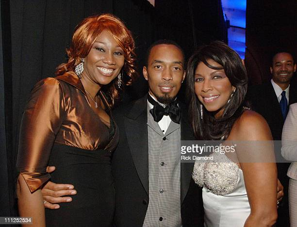 Yolanda Adams Dallas Austin and Natalie Cole during The Dallas Austin Foundation 1st Annual Don't Stop the Music Gala at Georgia Aquarium in Atlanta...