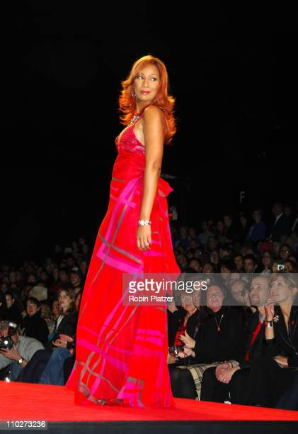 Yolanda Adams during Olympus Fashion Week Fall 2006 Heart Truth Red Dress Runway at The Tent Bryant Park in New York New York United States