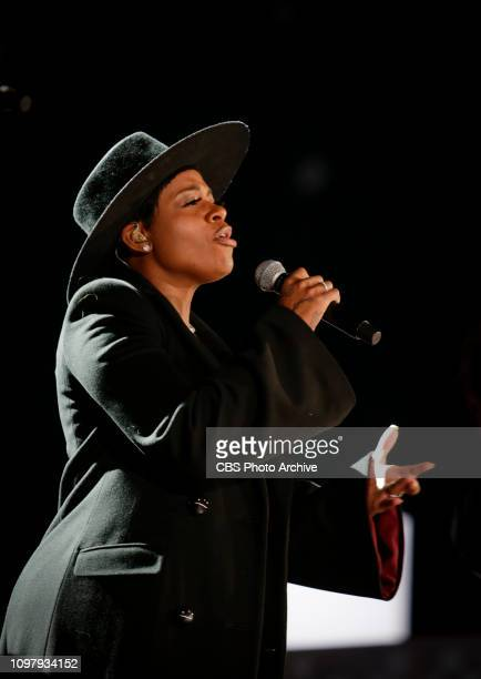 Yolanda Adams Fantasia and Andra Day perform a tribute to Aretha Franklin during rehearsals at THE 61ST ANNUAL GRAMMY AWARDS broadcast live from the...